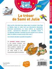 Sami et Julie CE2 ; le trésor de Sami et Julie - 4ème de couverture - Format classique