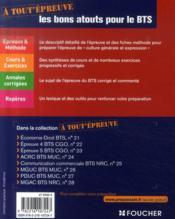 Francais ; Bts ; Culture Generale Et Expression - 4ème de couverture - Format classique