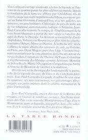 Saint Germain des Prés - 4ème de couverture - Format classique