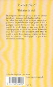 Theories du ciel - 4ème de couverture - Format classique