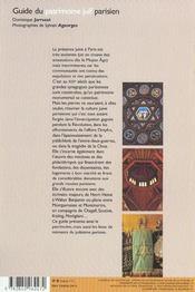 Guide patrimoine juif parisien - 4ème de couverture - Format classique