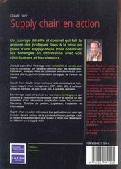 Supply Chain En Action ; Strategie Logistique Service Client - 4ème de couverture - Format classique