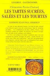 Tartes Et Tourtes Salees Et Sucrees - 4ème de couverture - Format classique