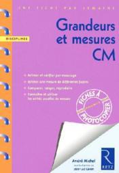 UNE FICHE PAR SEMAINE ; grandeurs et mesure ; CM1 ; fiches à photocopier - Couverture - Format classique