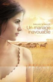 Un mariage inavouable - Couverture - Format classique