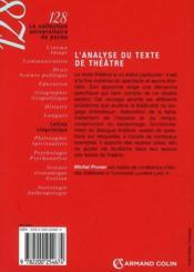 L'analyse du texte de théâtre (2e édition) - 4ème de couverture - Format classique