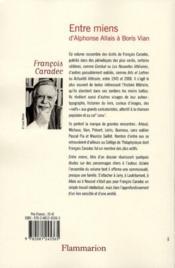 Entre miens, d'Alphonse Allais à Boris Vian - 4ème de couverture - Format classique
