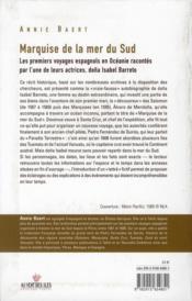Marquise de la mer du sud ; les premiers voyages espagnols en Océanie par doña Isabel Barreto - 4ème de couverture - Format classique