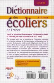 Dictionnaire des écoliers CM - 4ème de couverture - Format classique