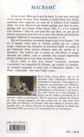 Macramé - 4ème de couverture - Format classique