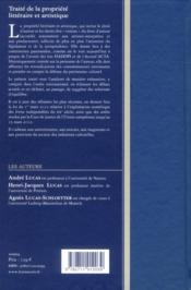 Traité de la propriété littéraire et artistique - 4ème de couverture - Format classique