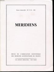 MERIDIENS Revue trimestrielle n° 55 et 56 : Etudes Traditionnelles / mouvement scientifique / etudes cliniques. - Couverture - Format classique