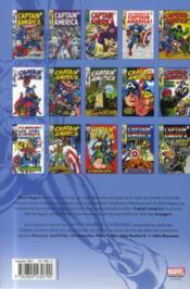 Captain America ; INTEGRALE VOL.3 ; 1968-1969 - 4ème de couverture - Format classique