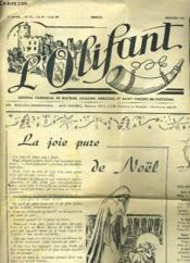 L'OLIFANT 12e ANNEE N°93 - LA JOIE PURE DE NOEL... - Couverture - Format classique