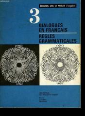Dialogues En Francais - Regles Grammaticales - Couverture - Format classique