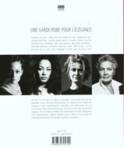 Une Garde-Robe Pour L'Elegance - 4ème de couverture - Format classique