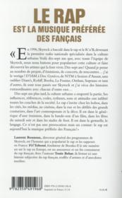 Le rap est la musique préférée des Français - 4ème de couverture - Format classique