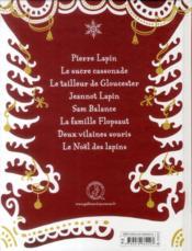 Les contes de noël de Pierre Lapin - 4ème de couverture - Format classique