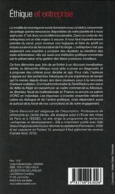 Éthique et entreprise - 4ème de couverture - Format classique