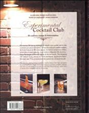 Experimental cocktail club - 4ème de couverture - Format classique