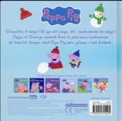 Peppa fait un bonhomme de neige - 4ème de couverture - Format classique