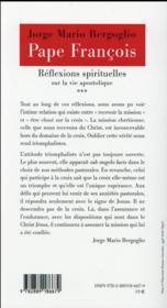 Réflexions spirituelles sur la vie apostolique t.3 - 4ème de couverture - Format classique