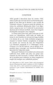 Confiteor - 4ème de couverture - Format classique