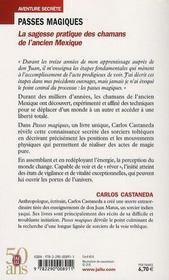 Passes magiques ; la sagesse pratique des chamans de l'ancien Mexique - 4ème de couverture - Format classique