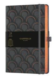 Carnet copper and gold grand format ligné art déco copper - Couverture - Format classique