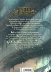 La guilde des aventuriers t.1 - 4ème de couverture - Format classique