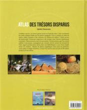 Atlas des trésors disparus - 4ème de couverture - Format classique