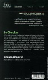 Le Cherokee - 4ème de couverture - Format classique