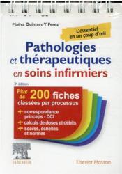 Pathologies et thérapeutiques en soins infirmiers (2e édition) - Couverture - Format classique