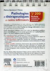 Pathologies et thérapeutiques en soins infirmiers (2e édition) - 4ème de couverture - Format classique