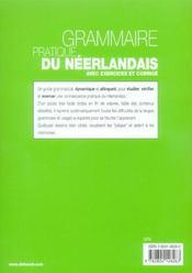 Grammaire pratique du neerlandais - 4ème de couverture - Format classique