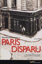 Promenades dans le paris disparu - Intérieur - Format classique