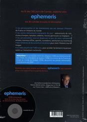 Ephemeris (edition 2008) - 4ème de couverture - Format classique