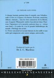 Le trésor sans fonds - 4ème de couverture - Format classique