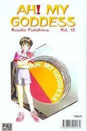 Ah! my goddess t.13 - 4ème de couverture - Format classique