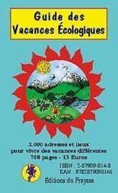 Guide Des Vacances Ecologiques - Couverture - Format classique