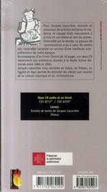 Entretiens avec jacques lacarrière ; un itinéraire radieux - 4ème de couverture - Format classique
