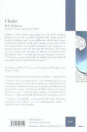 Chalut - 4ème de couverture - Format classique