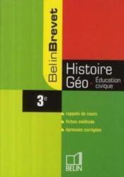 BELINBREVET ; histoire/géo/éducation civique ; 3ème - Couverture - Format classique