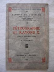 Pétrographie et rayons X (essai de bibliographie critique) - Couverture - Format classique