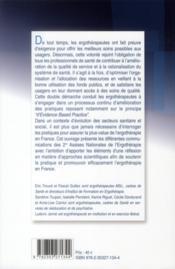 Recherche en ergotherapie : pour une dynamique des pratiques - 4ème de couverture - Format classique
