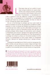 Etat Nation A L'Epreuve De La Mondialisation - 4ème de couverture - Format classique