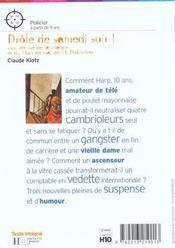 Drole De Samedi Soir ! - 4ème de couverture - Format classique