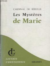 Les Mysteres De Marie. - Couverture - Format classique