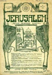 JERUSALEM, 25e ANNEE, N° 155, MAI-JUIN 1930, REVUE MENSUELLE ILLUSTREE - Couverture - Format classique
