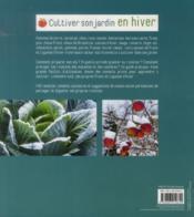 Cultiver son Jardin en Hiver - 4ème de couverture - Format classique